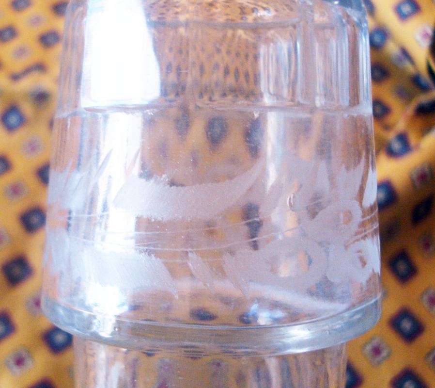 Five Bottle Clear Glass Castor Set