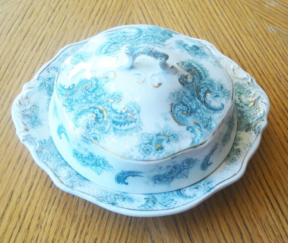 WH Grindley Covered Butter Dish in Argyle