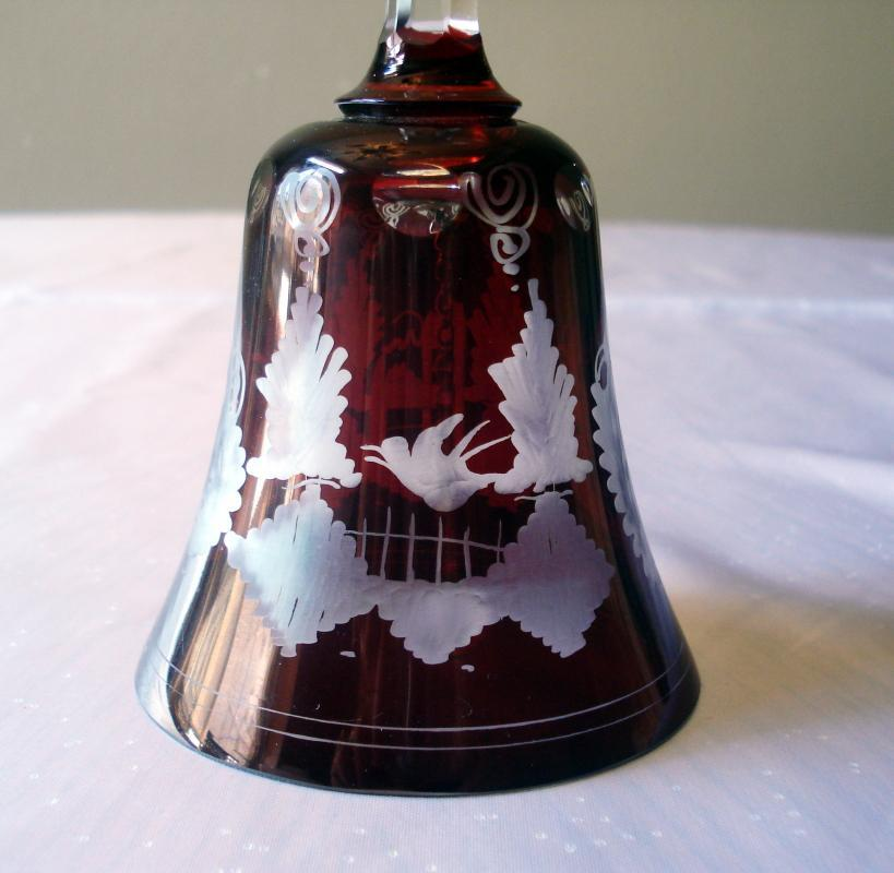 Egermann Red Cut to Clear Bell