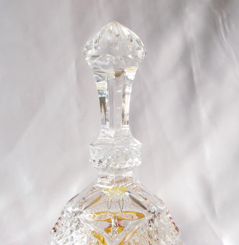 Crystal Cut to Clear Bell with Yellow Panel
