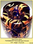 CZECH DESIGNER STUDIO GLASS PAPERWEIGHT VASE