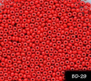 100 gr CZECH VINTAGE RED GLASS SEED BEADS 2.7mm #29