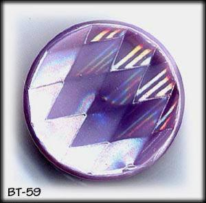 8 OPAQUE LILAC GLASS BUTTONS 50's #59