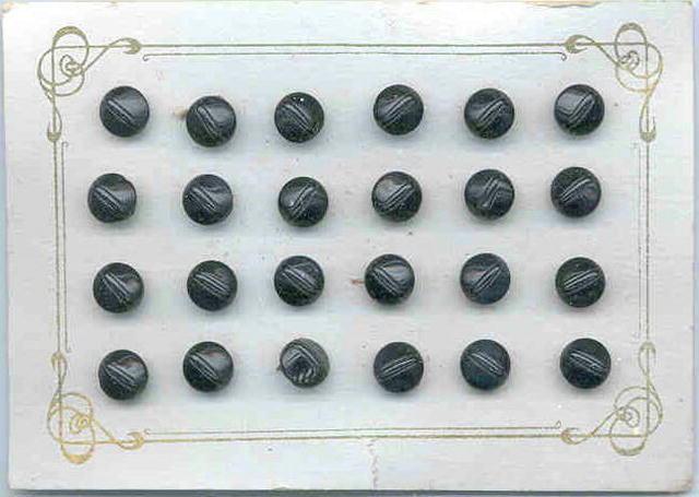 24 BLACK BUTTONS ORIGINAL CARD 1920