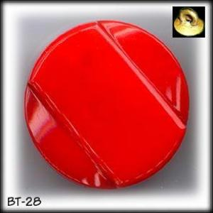 3  ART DECO RED GLASS BUTTONS 30's #28