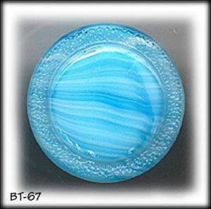 8 AQUA MOONGLOW GLASS BUTTONS 50's #67