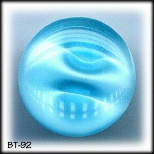 8 AQUA MOONGLOW GLASS BUTTONS 50's #92