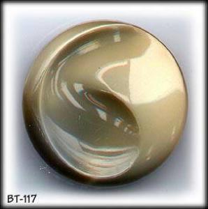 3 GREY/TAN SILK GLASS BUTTONS 50's #117