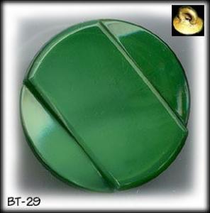 4 ART DECO GREEN GLASS BUTTONS 30's #29