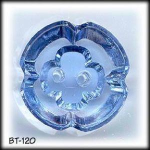3 VINTAGE BLUE CUT GLASS BUTTONS #120