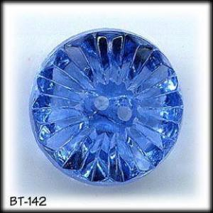 4 VINTAGE BLUE CUT GLASS BUTTONS #142