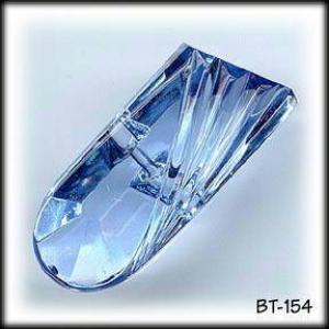 2 BLUE VINTAGE ART DECO CUT GLASS BUTTONS #15