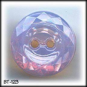 VINTAGE PINK OPALINE CUT GLASS BUTTON BT123