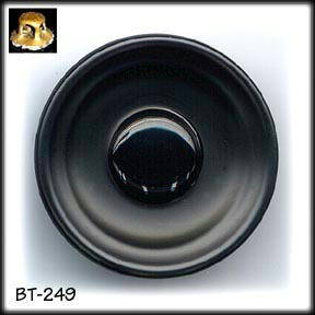 ART DECO BLACK GLASS BUTTON 20's BT249