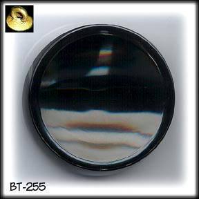 HUGE ART DECO BLACK GLASS BUTTONS 20's BT255