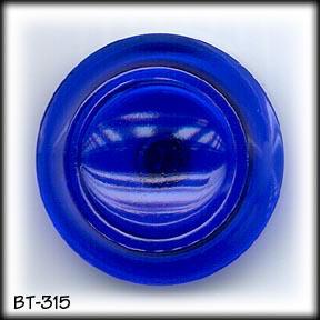 2 COBALT BLUE GLASS BUTTONS 20's BT315