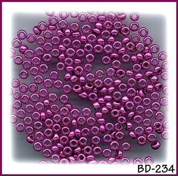 CZECH VINTAGE METALLIC RED GLASS SEED BEADS 2.7mm 100g #234
