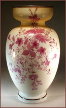 BEAUTIFUL ANTIQUE BRISTOL GLASS VASE GL10 /
