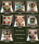 6 ARTS & CRATS EMBROIDERED PILLOWS