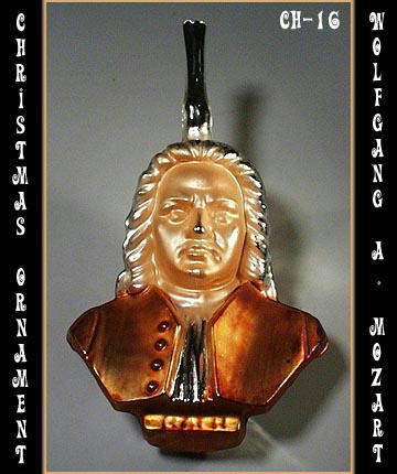 HUGE VINTAGE MOZART CHRISTMAS ORNAMENT