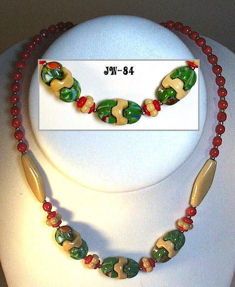 (3) CZECH 1930's VINTAGE ART DECO  NECKLACES #81-84