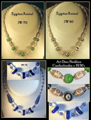(3) CZECH 1930's VINTAGE ART DECO  NECKLACES #78-80