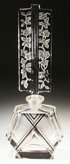 VINTAGE CZECH ART DECO PERFUME BOTTLE #32