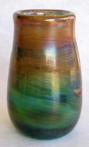 IRIDESCENT HAND BLOWN ART GLASS VASE #68