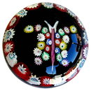 ANTIQUE WINGED BUTTERFLY GLASS PAPERWEIGHT GL71