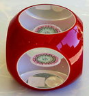 VINTAGE BACCARAT OVERLAY GLASS PAPERWEIGHT GL74