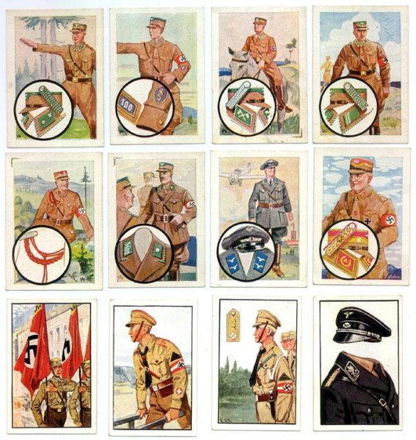SET OF 12 GERMAN CIGARETTE CARDS c. 1930's P110
