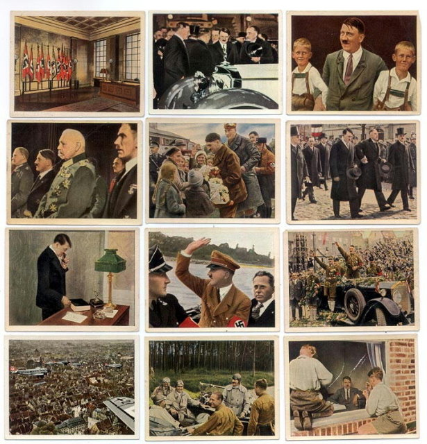 SET OF 12 GERMAN CIGARETTE CARDS c. 1930's P113