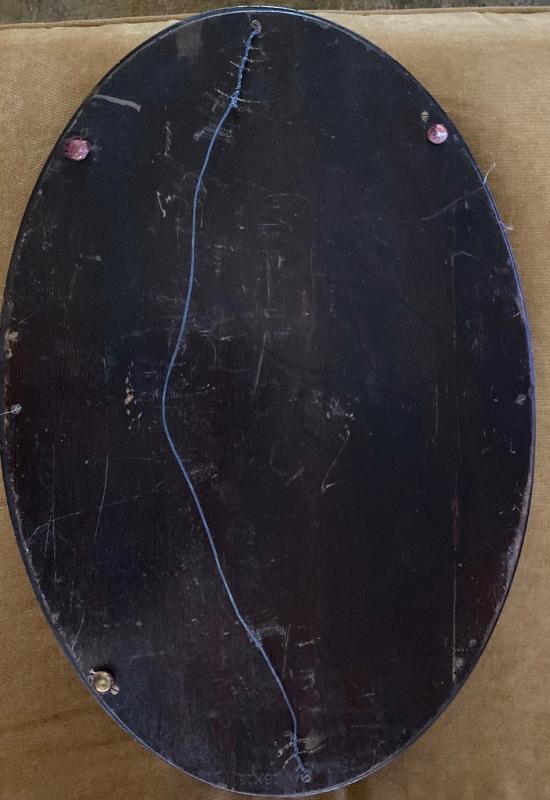 Early 1900's marquetry inlay wood tray