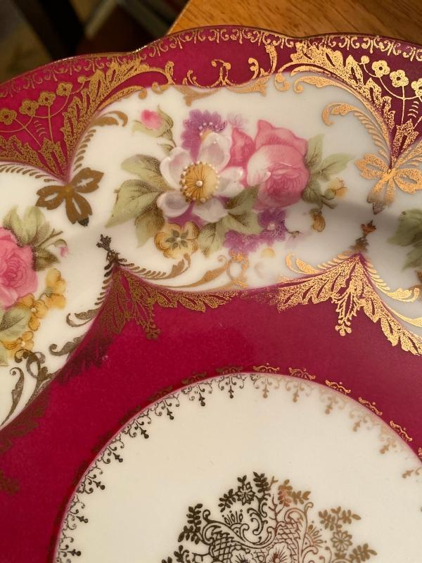 Austrian plate with gilt details. Imperial crown China of Austria