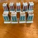 Set of 9 vintage chopstick holders