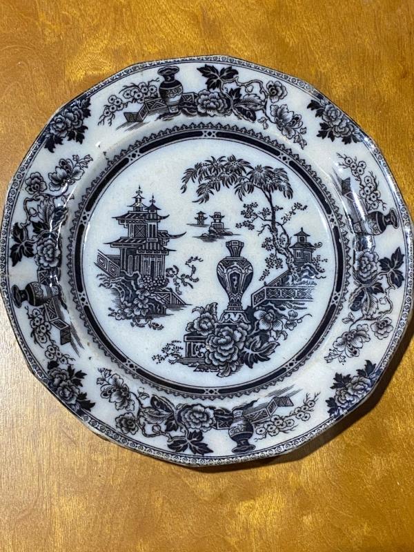 Jeddo ironstone plate. W Adams and sons.