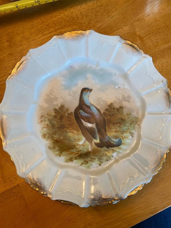 Set of 6 porcelain game bird plates.