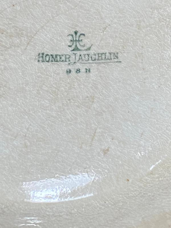 Rare vintage Homer Laughlin Bread bowl