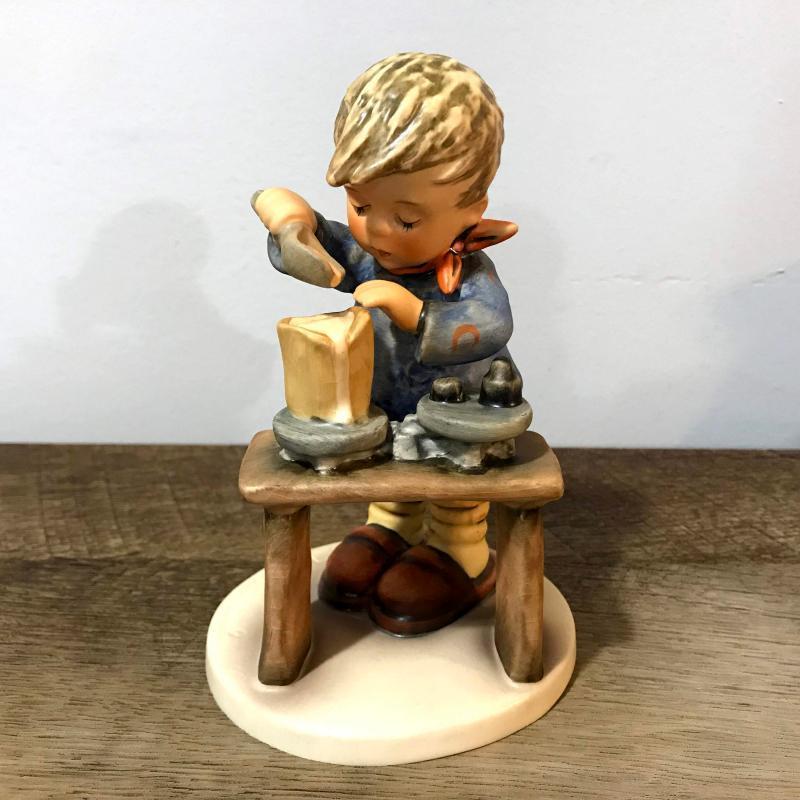 Hummel Goebel A Fair Measure Boy Mixing Figurine 345 1972 W Germany