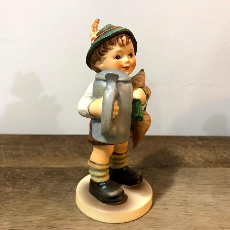 Hummel Goebel For Father Figurine 87 Boy With Beer Stein and Turnips W Germany