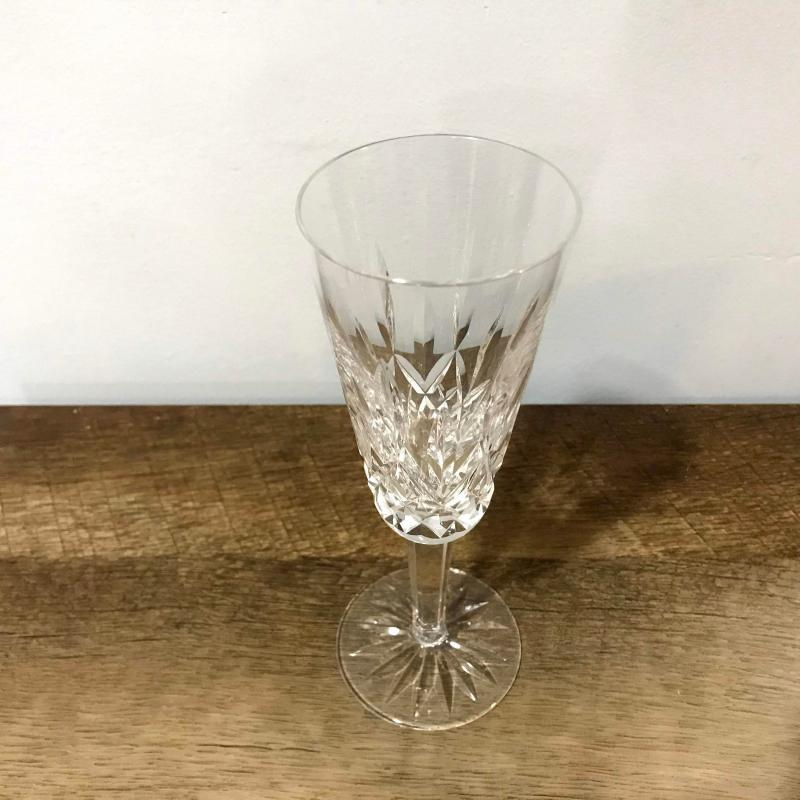 Waterford Crystal Lismore Champagne Flute Glass Fluted Good Condition