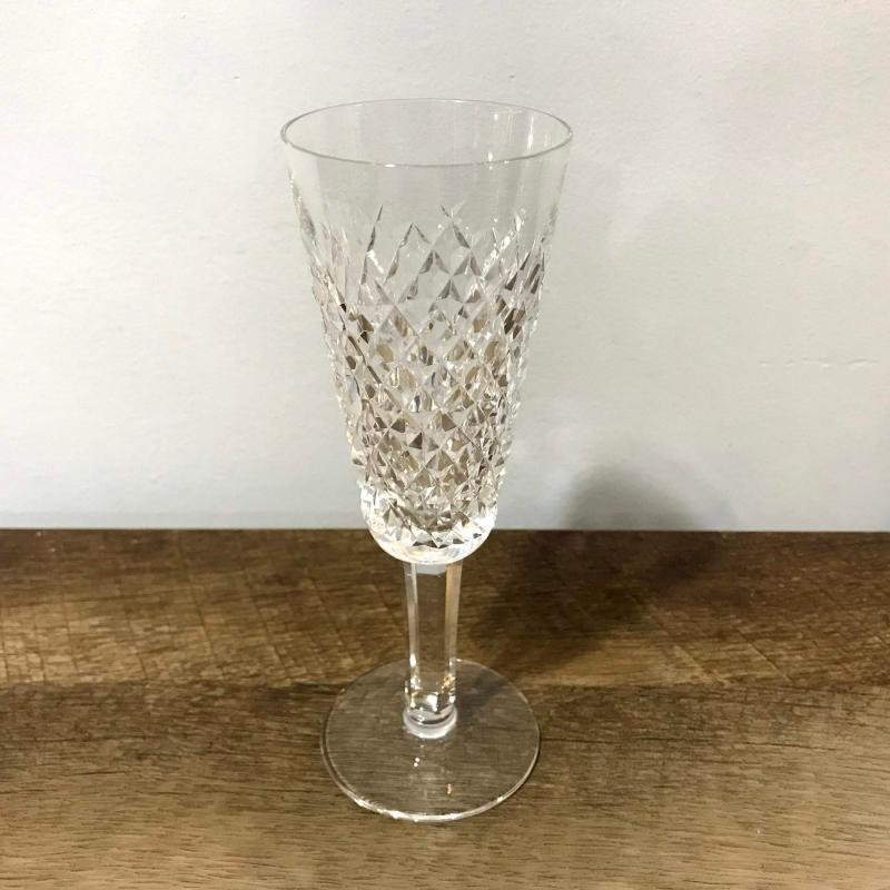 Waterford Crystal Alana Champagne Flute Glass Fluted Good Condition