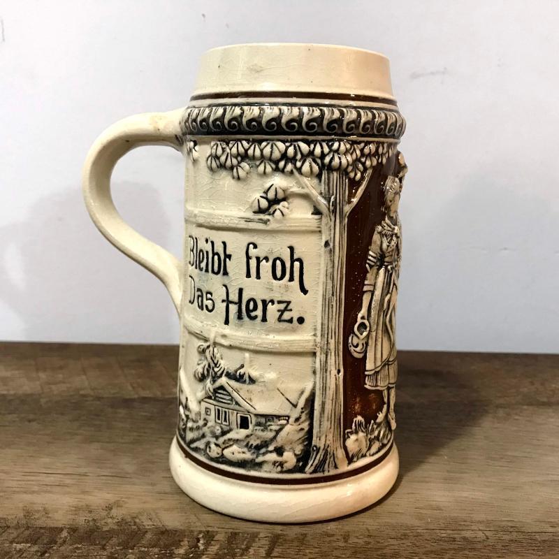 Vintage German Beer Stein Antique Bier Mug Made in Germany