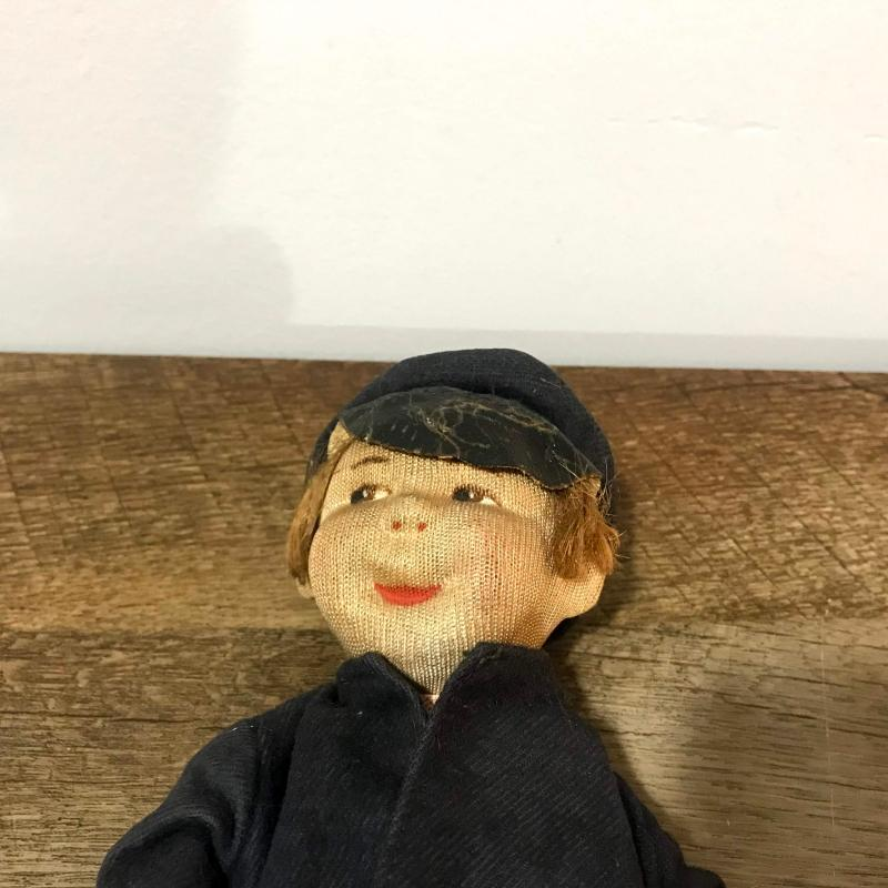 Antique  Handmade Doll Vintage Hand Made Toy Small Boy Doll Early 20th Century