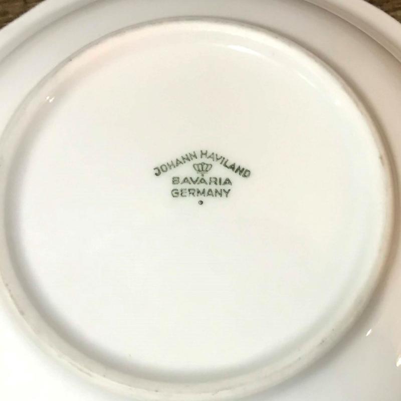 German Serving Bowl Johann Haviland of Bavaria Grey Blue Rose Small Dish