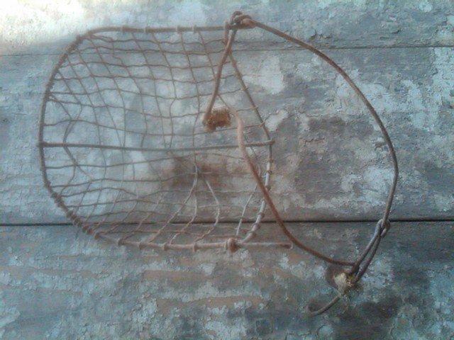 CALF WEAN STEEL MESH BASKET GOAT MAMMAL WEANLING FARM RANCH TOOL GARDEN FLORAL FLOWER DISPLAY PIECE