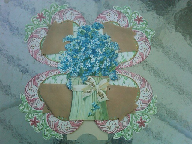 Forget Me Not Valentine Love Greeting Card Victorian Era Holiday Decoration