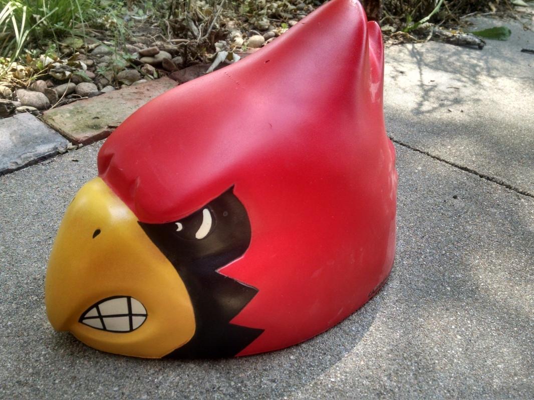 Louisville Cardinals Red Bird Foamhead Cardinalhead Sports Team Headgear Cap Starter Brand Collectible Gear
