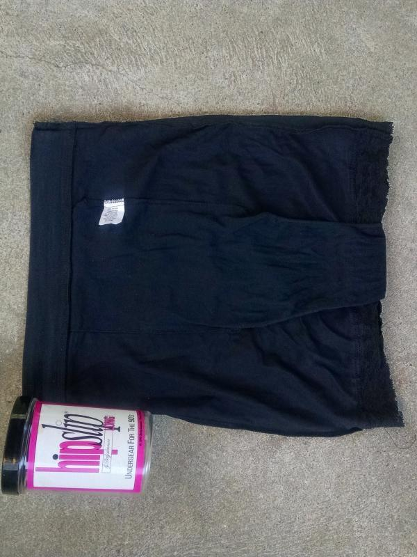 Hipslip Bodyslimmers 1990's undergear black under garment specialty shop original advertising container size medium usa made clothing accessory