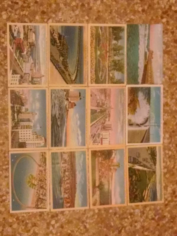 LONG BEACH CALIFORNIA POSTCARD RAINBOW PIER VILLA RIVIERA PACIFIC COAST CLUB SIGNAL HILL OIL DISTRICT RECREATION PARK SUN PARLOR OCEAN AVENUE MUNICIPAL AUDITORIUM SPIT ARGUE CLUB